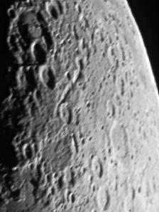 First photo of the moon taken on March 30th, 2009